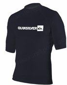 Quiksilver Plain Men's Short Sleeve Rashguard 50+ UV Protection - Black