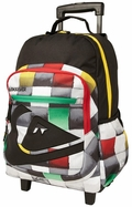 Quiksilver Roll On Back Pack - Black/Rasta