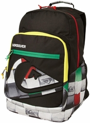 Quiksilver�Schoolie Backpack - Black/Rasta Color!
