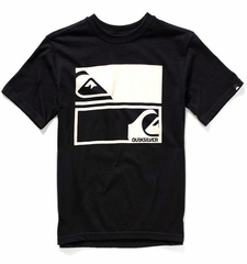 Quiksilver Logo T Shirt Black & White