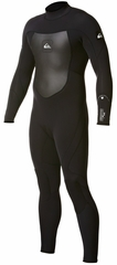 Quiksilver Syncro 3/2mm Flatlock Mens Back Zip Wetsuit Lastest Model!