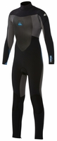 Quiksilver Syncro Boys 4/3mm Wetsuit - Black/Grey/Blue