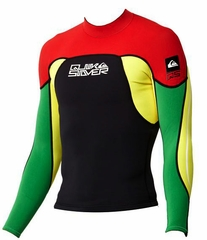 Quiksilver Syncro Jacket 1.5mm Rasta Color!
