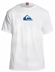 Quiksilver White Wave T-Shirt Blue Logo
