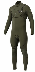 QuiksQuiksilver Cypher Wetsuit 3/2mm Monochrome Chest Zip - Green 2013