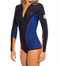 Rip Curl 1mm G-Bomb Long Sleeve Booty Women's Springsuit-Blk/Purple