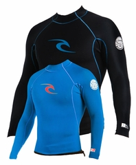 Rip Curl AGGROLITE REVERSIBLE Long Sleeve JACKET Black / Blue