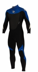 Rip Curl Dawn Patrol 3/2mm Men's Wetsuit Flatlock - BLACK/BLUE - NEW 2013 Model!