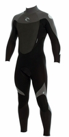 Rip Curl Dawn Patrol 3/2mm Men's Wetsuit Flatlock - BLACK/GREY - NEW 2013 Model!