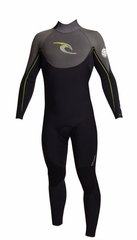 Rip Curl E Bomb 4/3mm Wetsuit Back Zip - Black/Grey