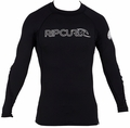 Rip Curl Freelite Long Sleeve Men's Rashguard - Black