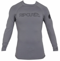 Rip Curl Freelite Long Sleeve Men's Rashguard 50+ UV Protection - Grey