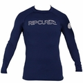 Rip Curl Freelite Long Sleeve Men's Rashguard 50+ UV Protection - Navy Blue