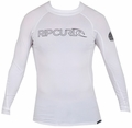 Rip Curl Freelite Long Sleeve Men's Rashguard 50+ UV Protection - White