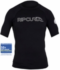 Rip Curl Freelite Rashguard Short Sleeve 50+ UPF Protection - Black