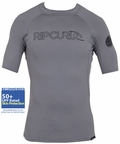 Rip Curl Freelite Short Sleeve Men's Rashguard 50+ UV Protection - Grey