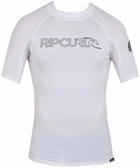 Rip Curl Freelite Short Sleeve Men's Rashguard 50+ UV Protection - White
