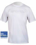 Men's Rip Curl Rashguard Freelite Short Sleeve Loose Fit Rashguard 50+ UV Protection - White