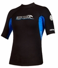 Rip Curl Hotskins .5mm Short Sleeve Jacket - Black w/Blue