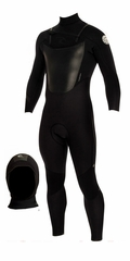 Rip Curl Insulator Core Wetsuit 4/3mm Chest Zip - FREE HOOD!