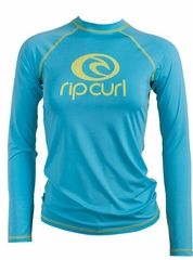 Rip Curl Island Fever  Women's Long Sleeve Rashguard - Blue