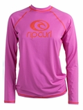 Rip Curl Island Fever  Women's Long Sleeve Rashguard - Rose