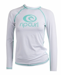 Rip Curl Island Fever Women's Long Sleeve Rashguard - White