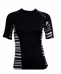 Rip Curl Kai Women's Short Sleeve Rashguard - Black