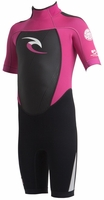 Rip Curl Kids Dawn Patrol 2mm Springsuit -  Black/Pink