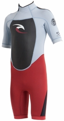 Rip Curl Kids Dawn Patrol 2mm Springsuit -  Red/Grey