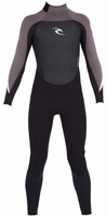 Rip Curl Kids Dawn Patrol 3/2mm Flatlock Fullsuit - Black/Grey