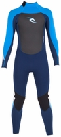 Rip Curl Kids Dawn Patrol 3/2mm Flatlock Fullsuit - Blue