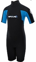 Rip Curl Kids's Freelite 2mm Springsuit - Black/Blue