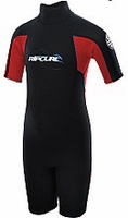 Rip Curl Kids's Freelite Springsuit 2mm - Black/Red