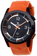 Rip Curl Launch Heat Midnight Men's Watch - Orange
