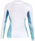 Rip Curl Mirage Women's Long Sleeve Rashguard 50+ UV Protection - White