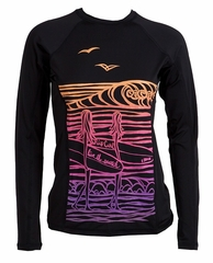 Rip Curl Surf Chica Women's Long Sleeve Rashguard - Black