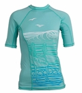 Rip Curl Surf Chica Women's Short Sleeve Rashguard - Ice Green