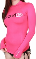 Rip Curl Surf Team Women's Long Sleeve Rashguard 50+ UV  - Pink