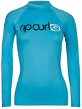 Rip Curl Surf Team Women's Long Sleeve Rashguard 50+ UV Protection- Blue