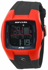 Rip Curl Trestles Oceansearch Tide Watch - RED