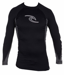 Rip Curl Wave Long Sleeve Men's Rashguard - Black