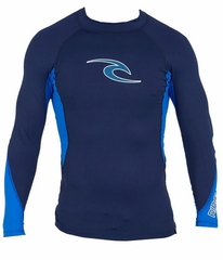 Rip Curl Wave Long Sleeve Men's Rashguard - Navy Blue