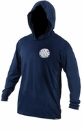 Rip Curl Wettie Hooded Long Sleeve Surf Shirt - Navy Blue