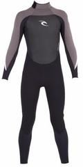 Rip Curl Youth Dawn Patrol 3/2mm Flatlock Fullsuit - Black/Charcoal