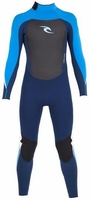 Rip Curl Youth Dawn Patrol 3/2mm Flatlock Fullsuit - Blue