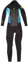 Roxy 3/2mm Syncro Girls Wetsuit 3/2mm Flatlock-Black/Blue