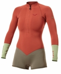 Roxy Kassia Meador 2mm Longsleeve Springsuit Wetsuit - Red New Spring Color