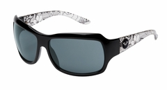 Roxy Shyme Sunglasses - Shiny Black Art