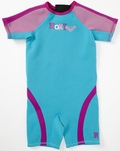 Roxy Syncro 1.5mm Girls Toddler Springsuit - Blue/Pink